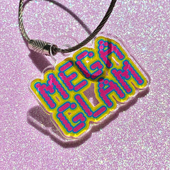 MegaGlam Logo Acrylic Necklace or Key Ring