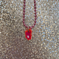 The Weather sKwirl™ Micro Pink Acrylic Necklace