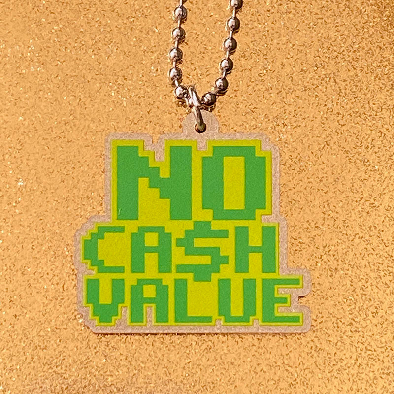 NO CASH VALUE Metallic Gold Acrylic Necklace