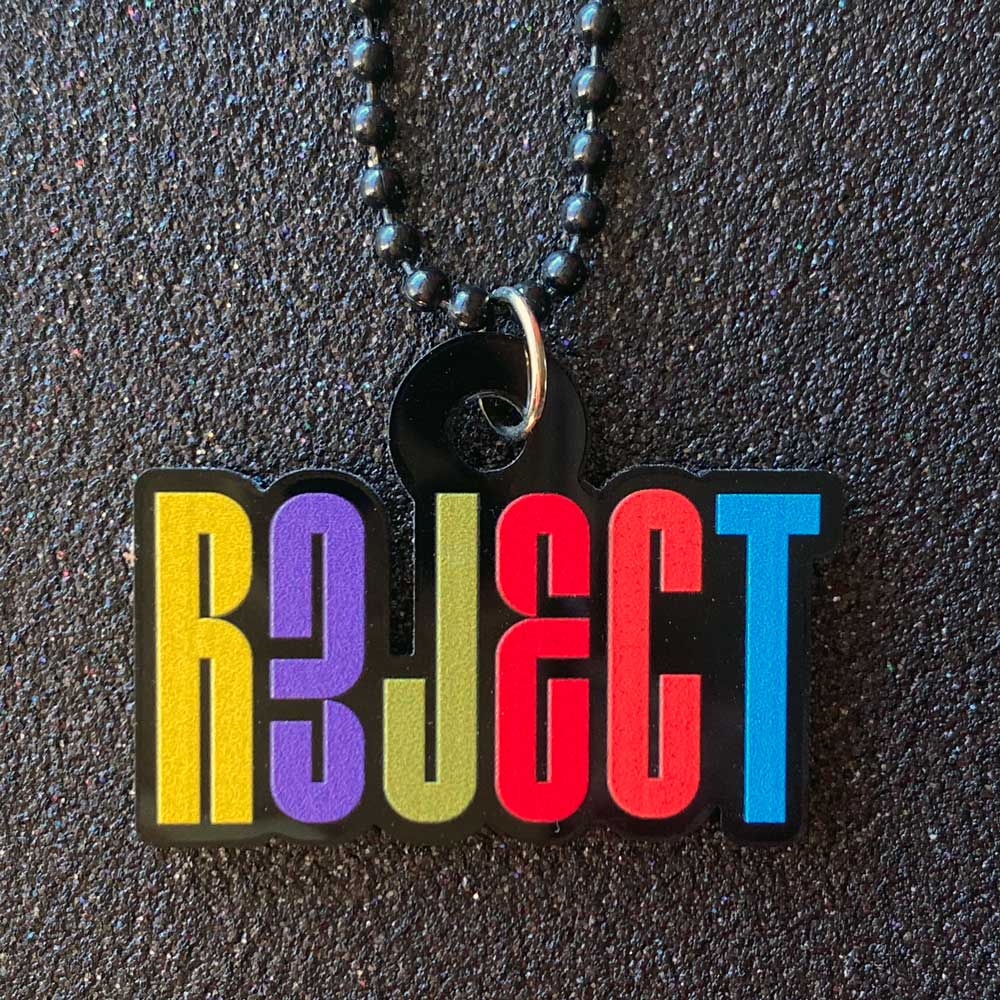 REJECT Black Acrylic Necklace
