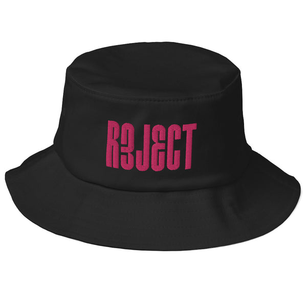 Reject Embroidered Bucket Hat