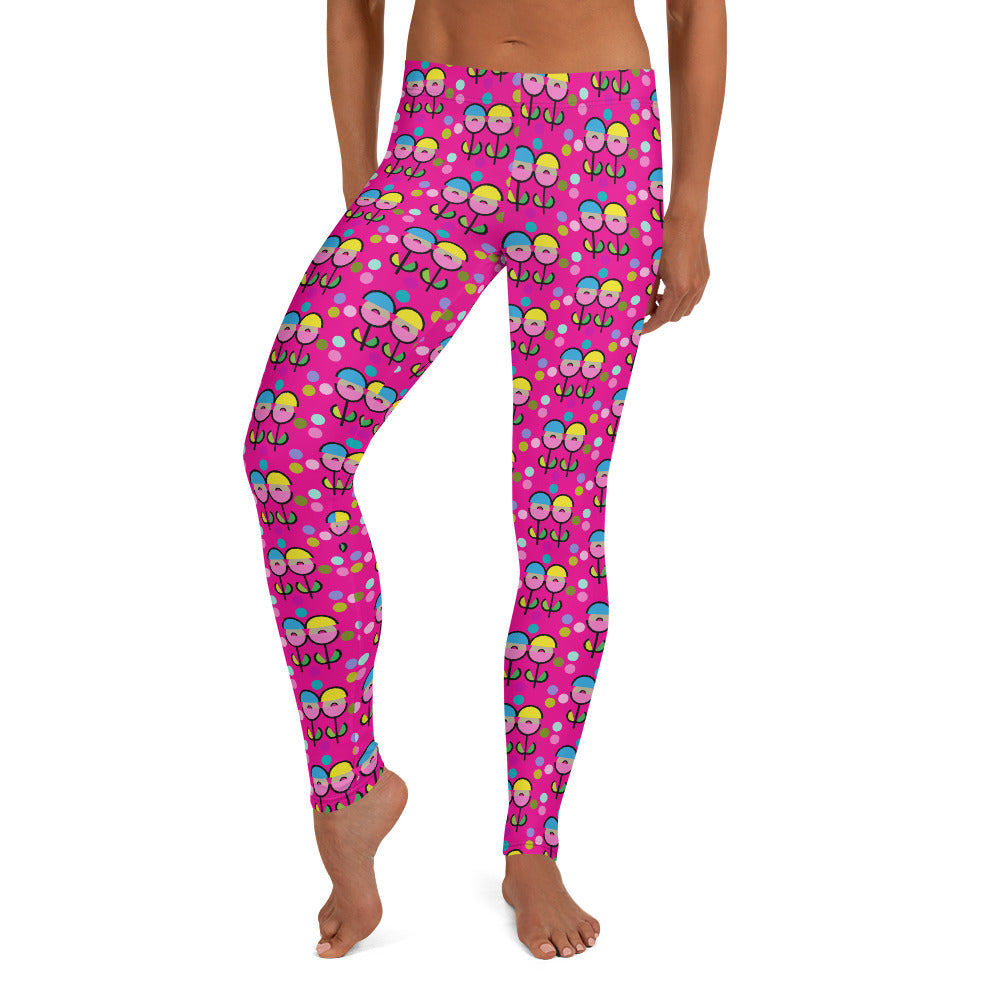 Space Flower Leggings (Pink)