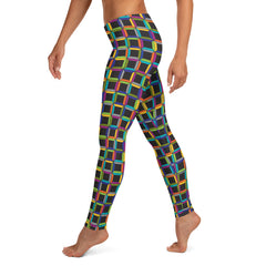 Midnight Cubist Leggings