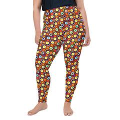 Multi Megadot Plus Size Leggings
