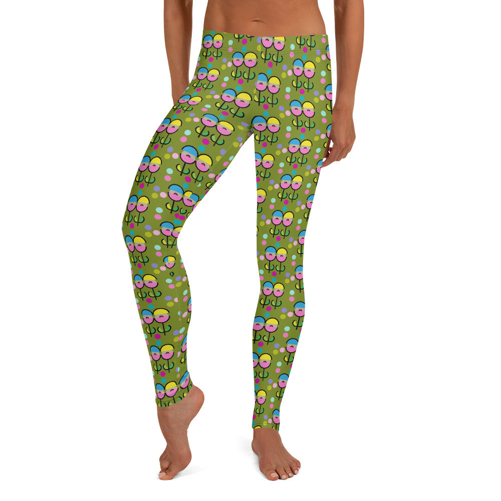 Space Flower Leggings (Green)