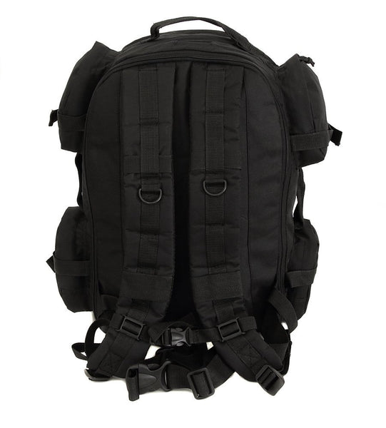 black hiking backpack back 18 inches
