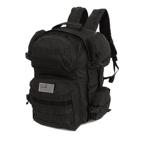 black hiking backpack front 18 inches
