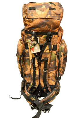 woodland camo mountain backpack, back