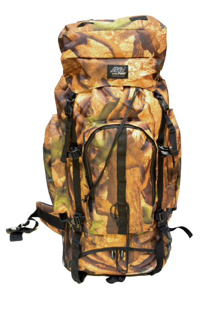 woodland camp mountain backpack, front