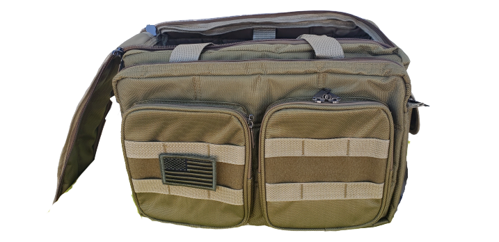 tan padded utility range bag 9.5 inches