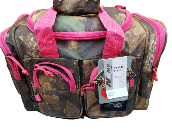 Pink camo utility bag 15 inches
