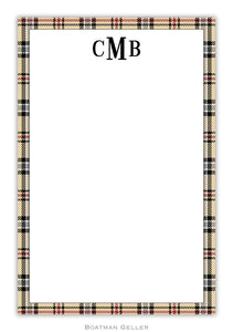 Town Plaid Notepad