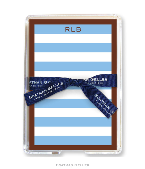 Rugby Blue & Brown Border Acrylic