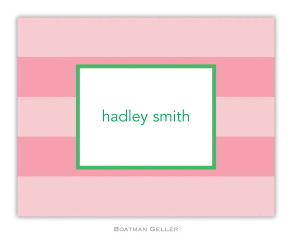 Rugby Pink  Foldover Notecard