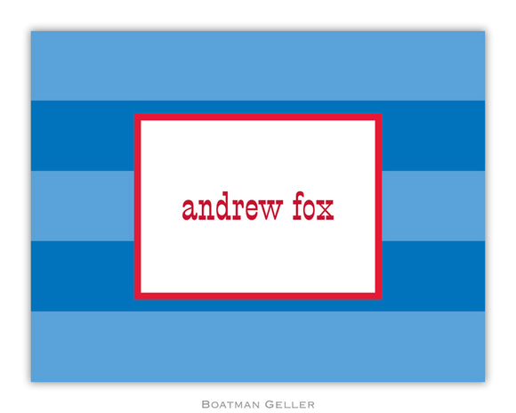 Rugby Blue Foldover Notecard
