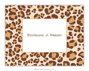Leopard Brown  Foldover Notecard