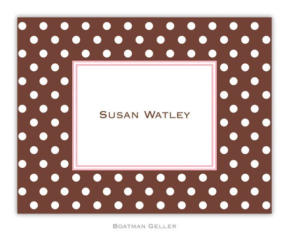Dot Brown  Foldover Notecard