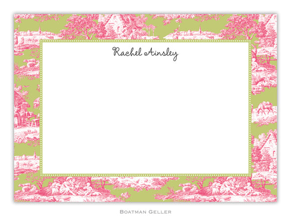 Toile Magenta & Green Flat Card