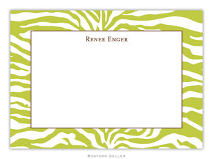 Zebra Green  Flat Card