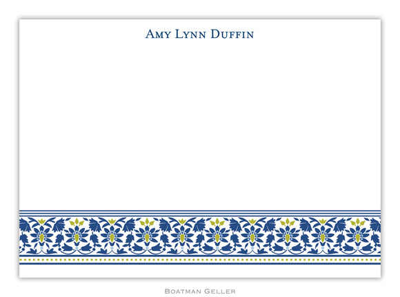 Ornamental Navy Flat Card