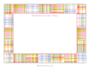 Madras Patch Pink  Flat Card
