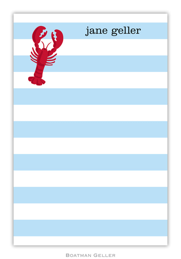 Stripe Lobster Notepad