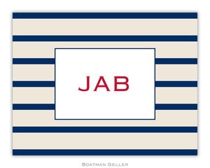 Nautical Stripe Foldover Notecard