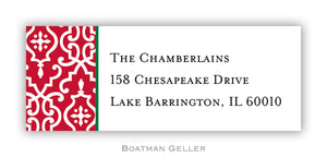 Wrought Iron Red Personalized Address Label
