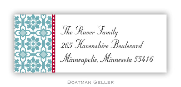 Mosaic Blue Personalized Address Label