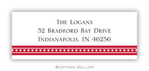 Beaded Red Personalized Address Label
