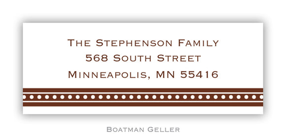 Beaded Brown Personalized Address Label