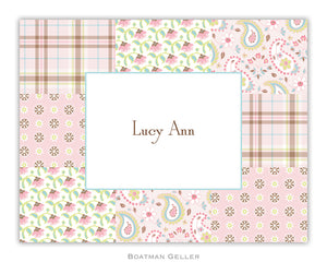 Riley Patch Pink Foldover Notecard