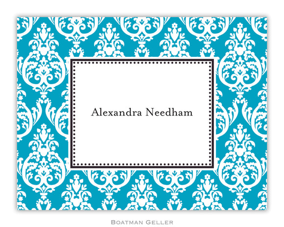 Madison Teal Foldover Notecard