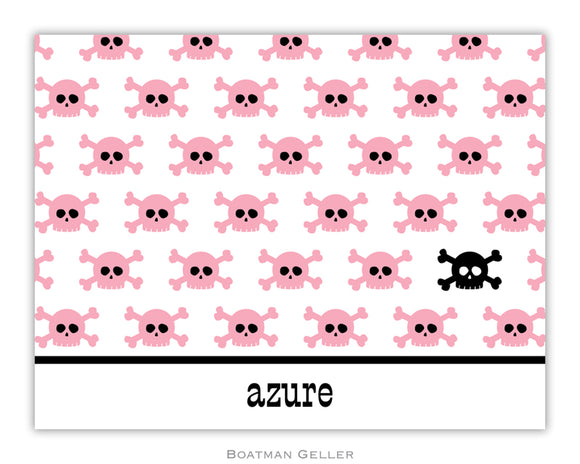 Skull Repeat Foldover Notecard