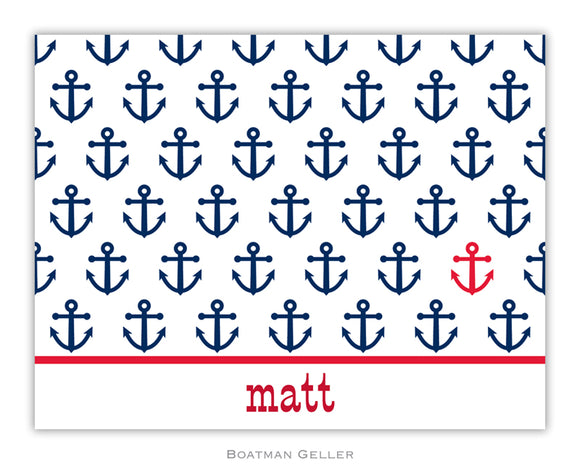 Anchor Repeat Foldover Notecard