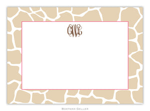 Giraffe Tan Flat Card