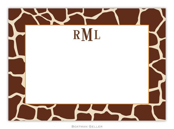 Giraffe Brown Flat Card