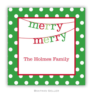 Banner Merry Merry Personalized Stickers