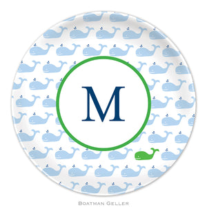 Whale Blue Repeat Plate