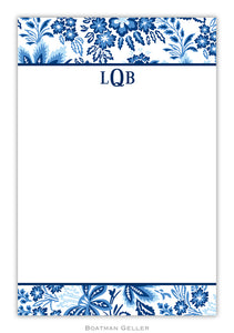 Classic Floral Blue Notepad