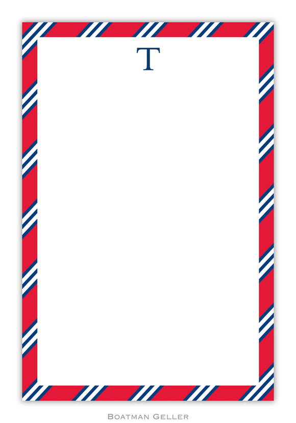 Repp Tie Red & Navy Notepad