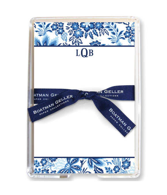 Classic Floral Blue Acrylic