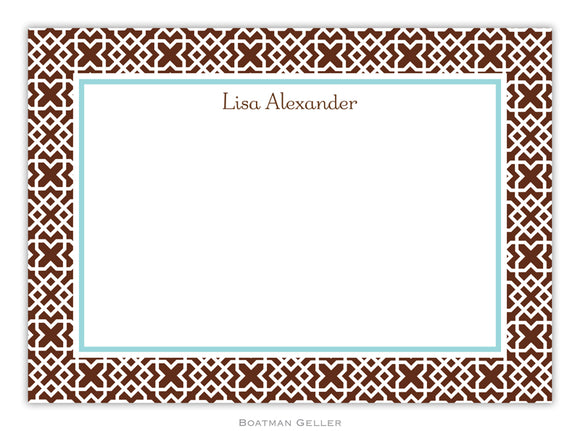 Mod Lattice Brown Flat Card