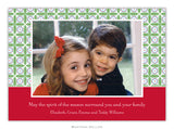 Tile Red and Green  Photo Cards