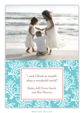 Coral Repeat Teal  Photo Cards