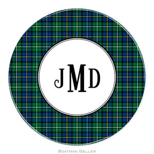 Black Watch Plaid Personalized Plate