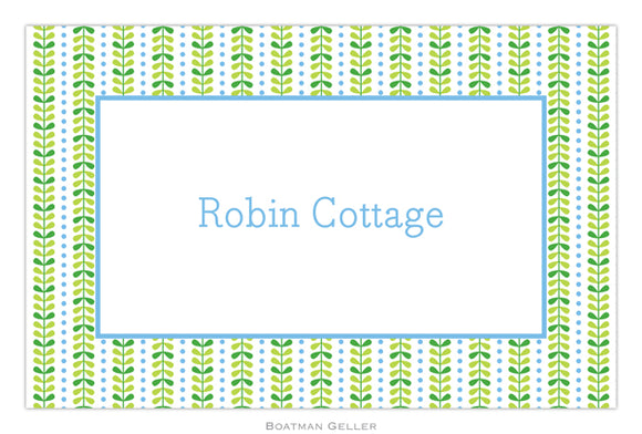 Bright Vine Green & Blue Placemat