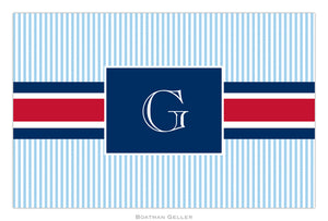 Grosgrain Ribbon Red & Navy Placemat