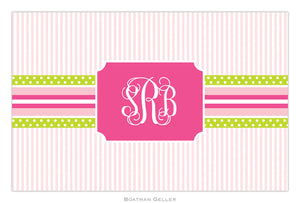 Grosgrain Ribbon Pink & Green Placemat