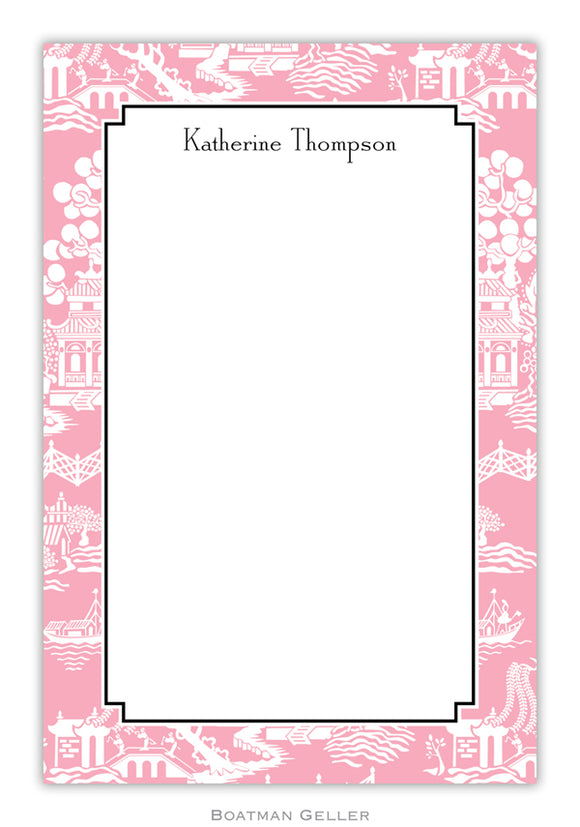 Chinoiserie Pink Notepad